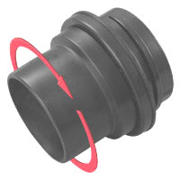 "2-1/2"" 360° Rotating Adaptor w/ Screw End"